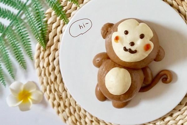 可爱猴蛋糕图片