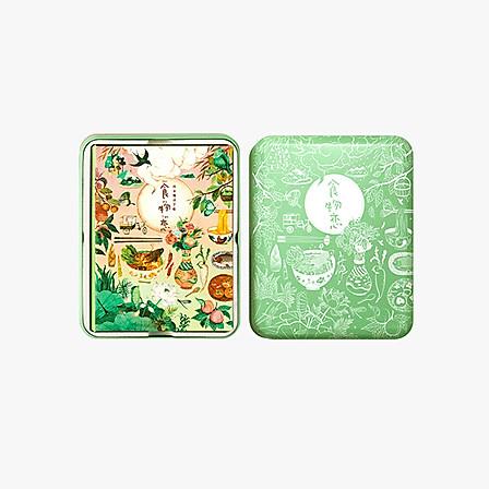 有礼有节 食物恋24节气插画美食手账涂色书套装 -抹茶绿