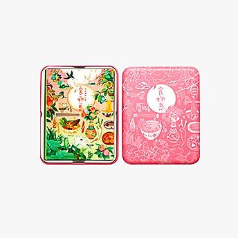 有礼有节 食物恋24节气插画美食手账涂色书套装 -樱桃粉