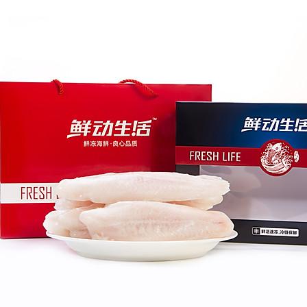 鲜动生活 越南进口巴沙鱼柳2.2kg礼盒装  无骨无刺 生鲜食材
