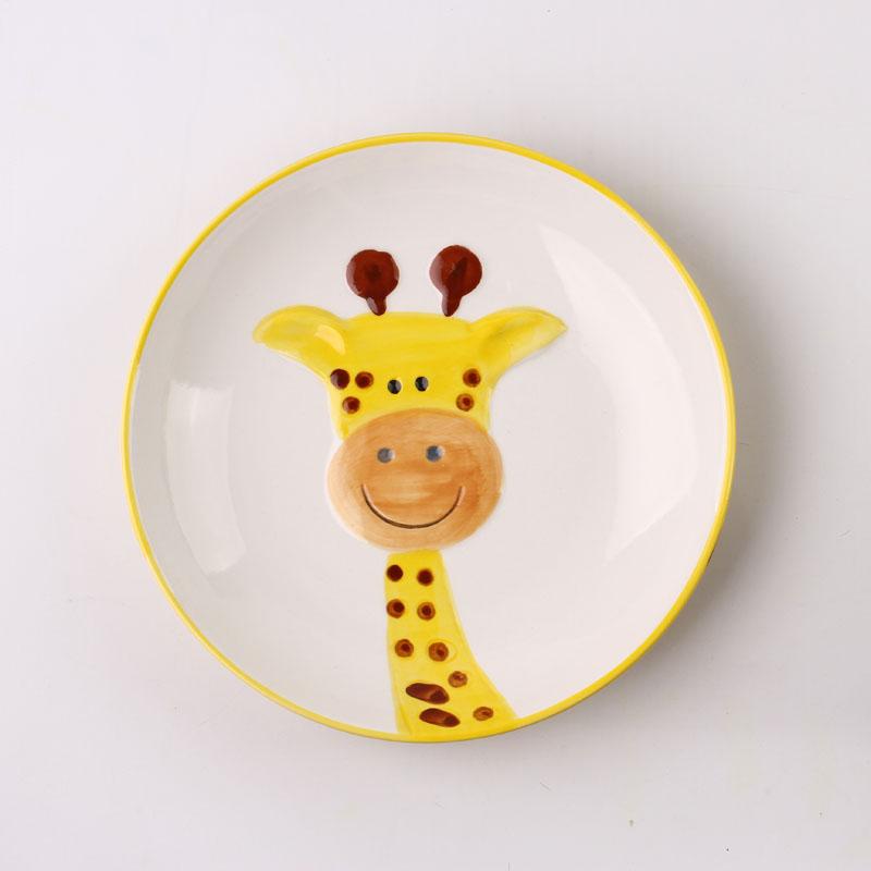 【趣玩】homee纯手绘动物碗组合装-长颈鹿(勺子 5寸碗