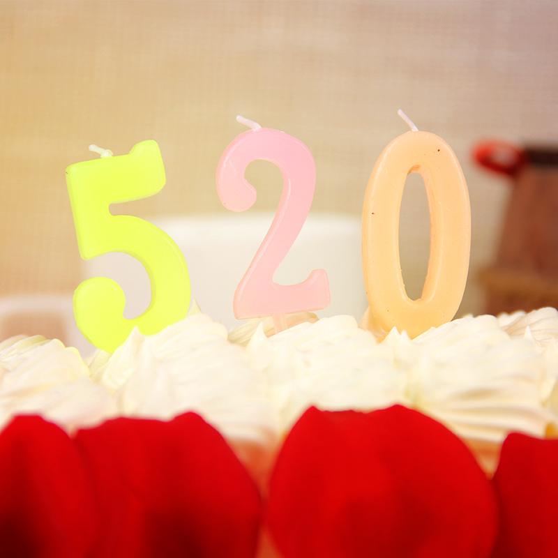 数字蜡烛 生日派对创意浪漫求爱表白纪念日蜡烛求婚