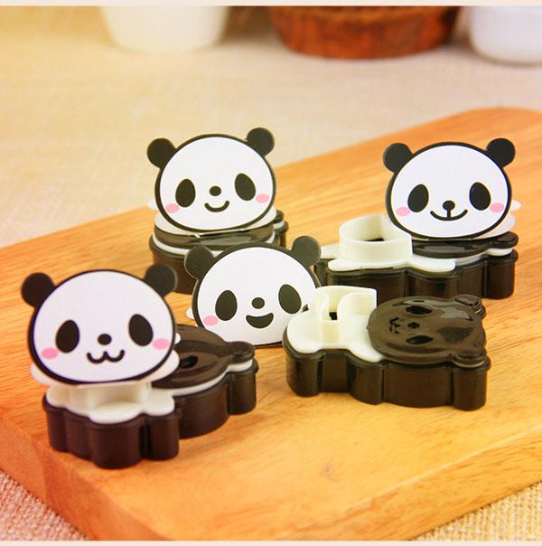 可爱熊猫 塑料 曲奇饼干模具套装 双色饼干模 翻糖压模