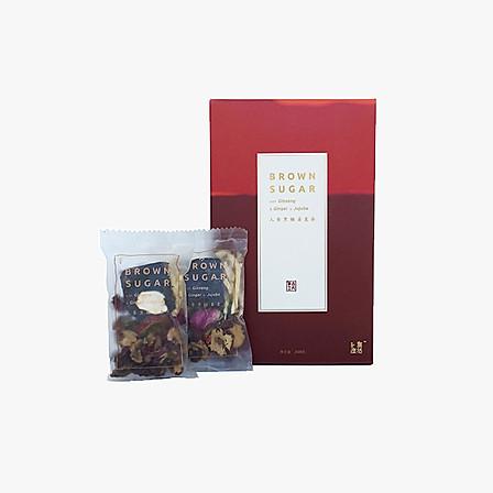 自然度  人参黑糖姜枣茶  1盒  25克×10袋独立包装