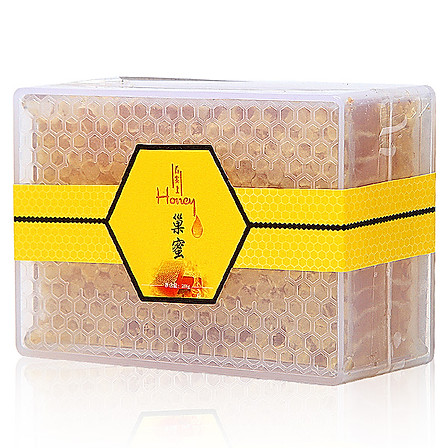 【清仓 限100盒】舌尖上Honey 原生态新疆黑蜂山花蜂蜜 巢蜜 500g/盒